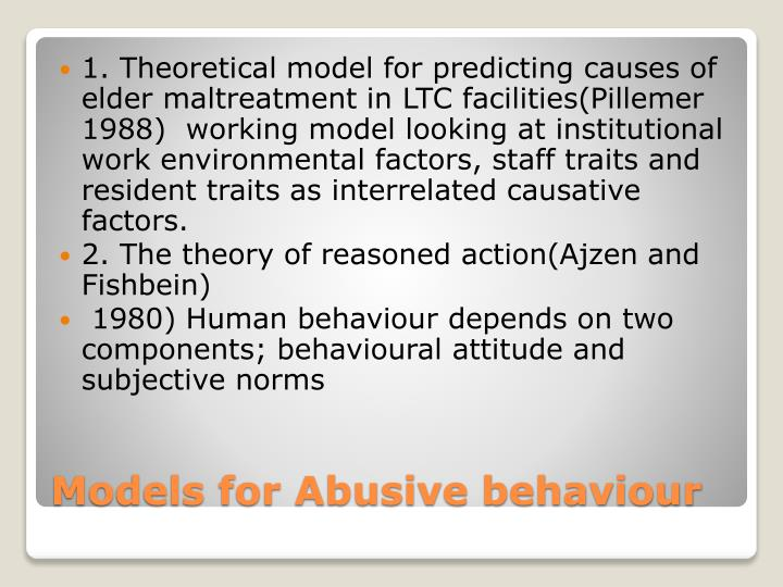 1. Theoretical model for predicting causes of elder maltreatment in LTC facilities(