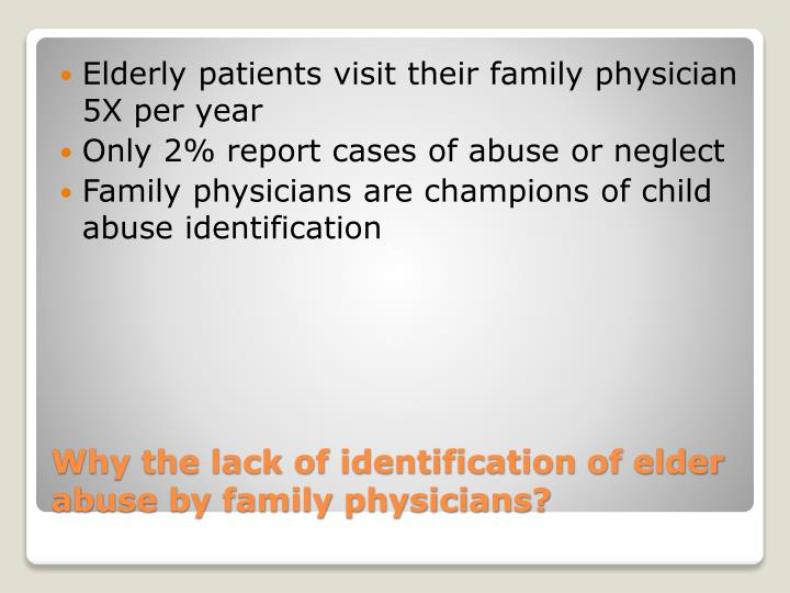 Elderly patients visit their family physician 5X per year