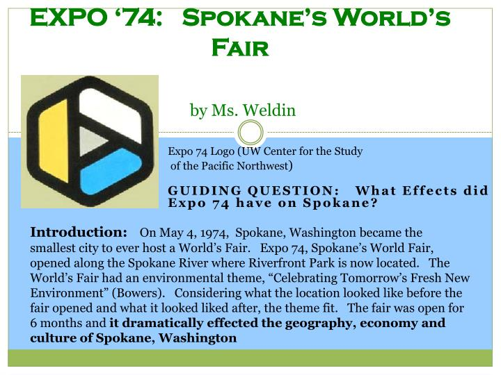 Expo 74 spokane s world s fair by ms weldin