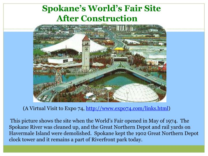 Spokane's World's Fair Site