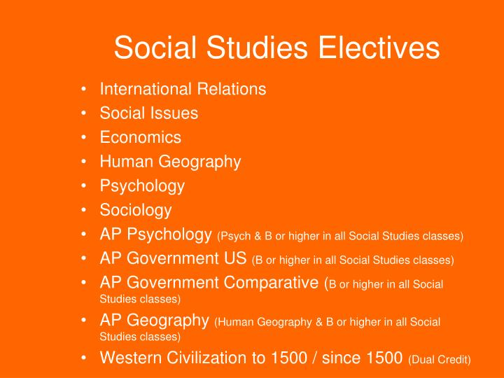 Social Studies Electives
