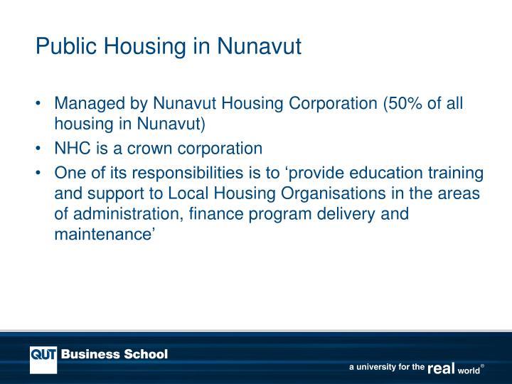 Public Housing in Nunavut