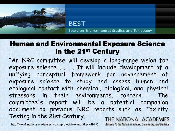 Human and Environmental Exposure Science