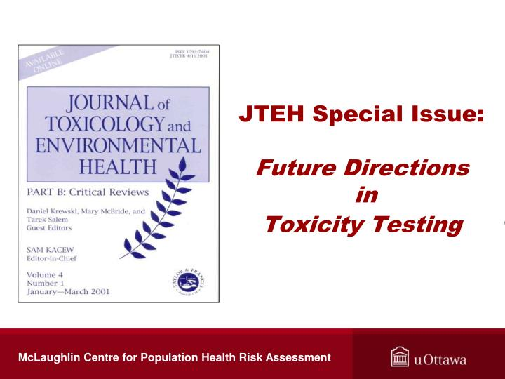 JTEH Special Issue: