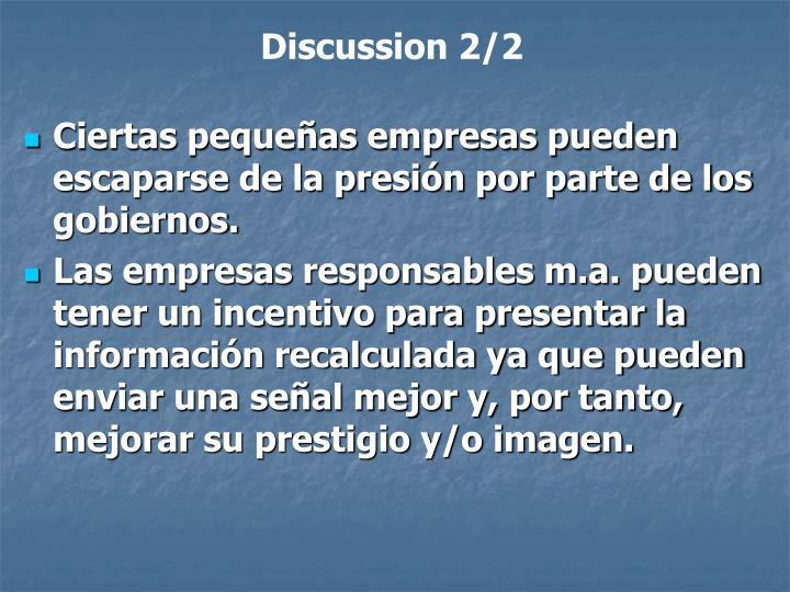 Discussion 2/2