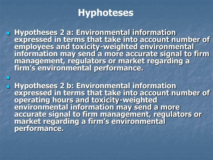 Hyphoteses