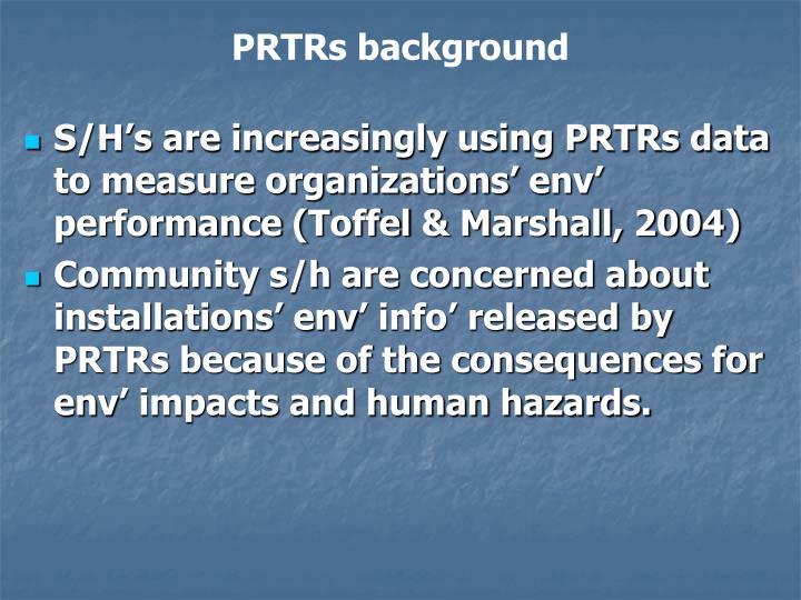 PRTRs background