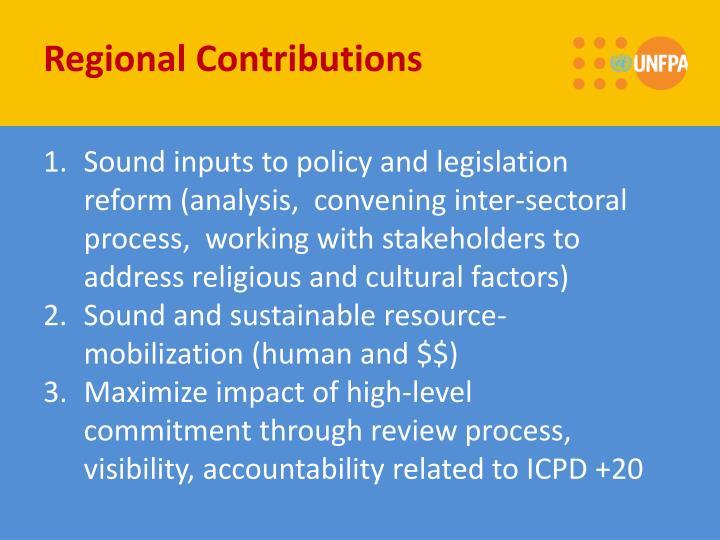 Regional Contributions
