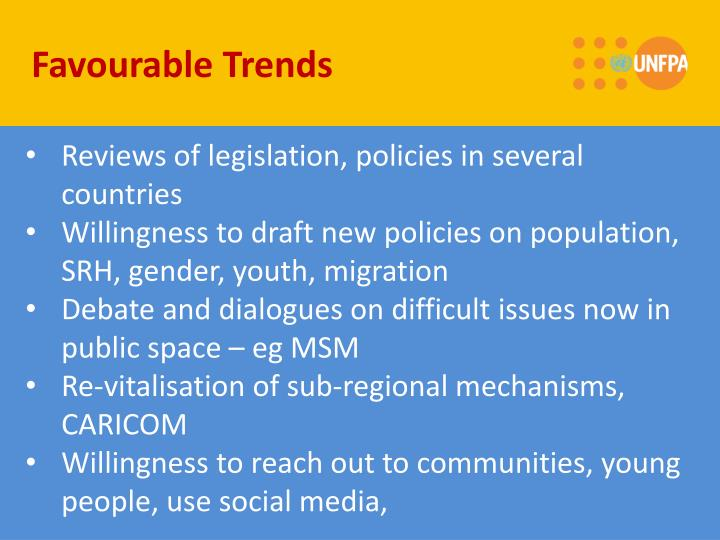 Favourable Trends