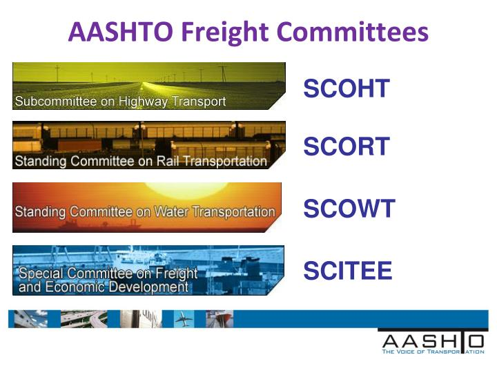 AASHTO Freight Committees