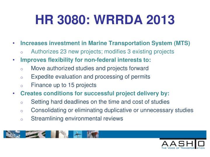 HR 3080: WRRDA 2013