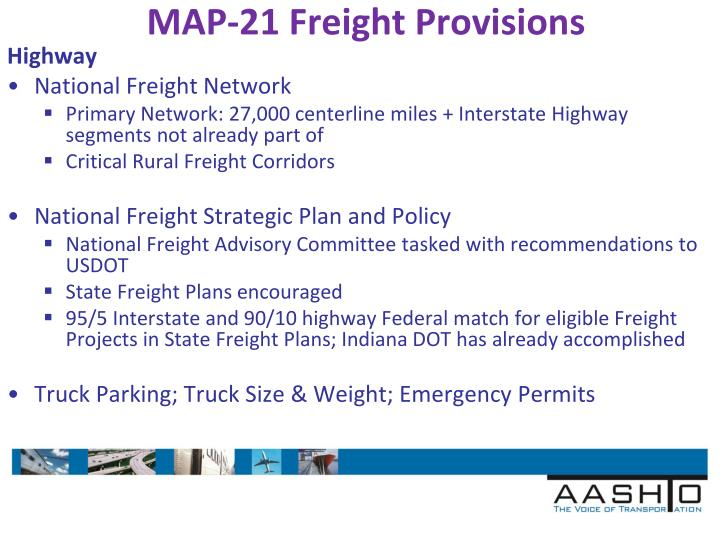 MAP-21 Freight Provisions