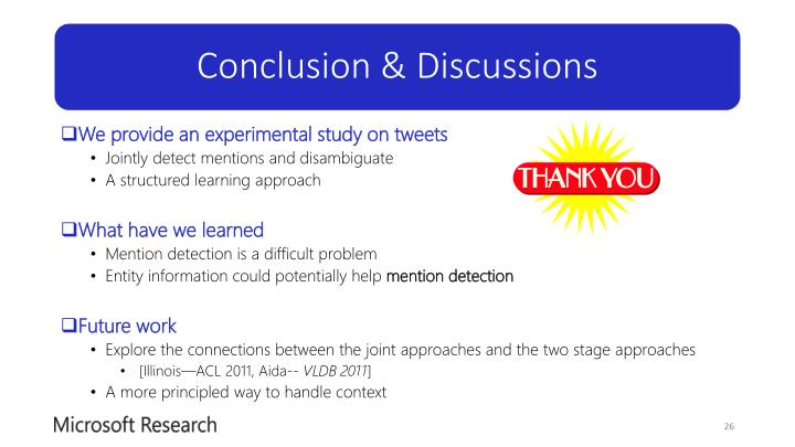 Conclusion & Discussions
