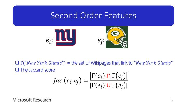 Second Order Features
