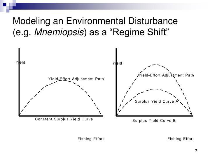 Modeling an Environmental Disturbance (e.g.