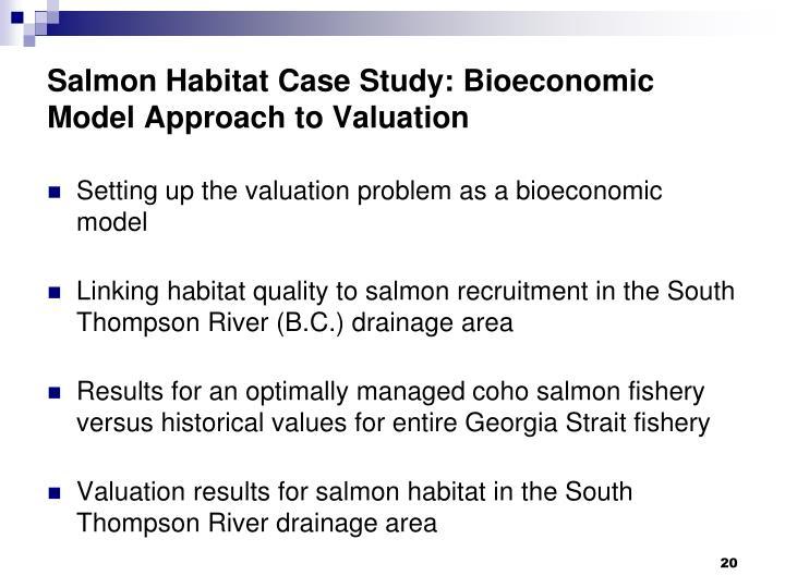 Salmon Habitat Case Study: Bioeconomic Model Approach to Valuation
