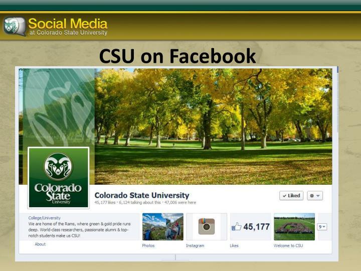 CSU on Facebook