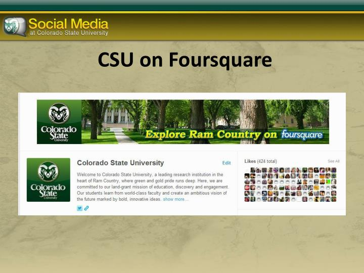 CSU on Foursquare