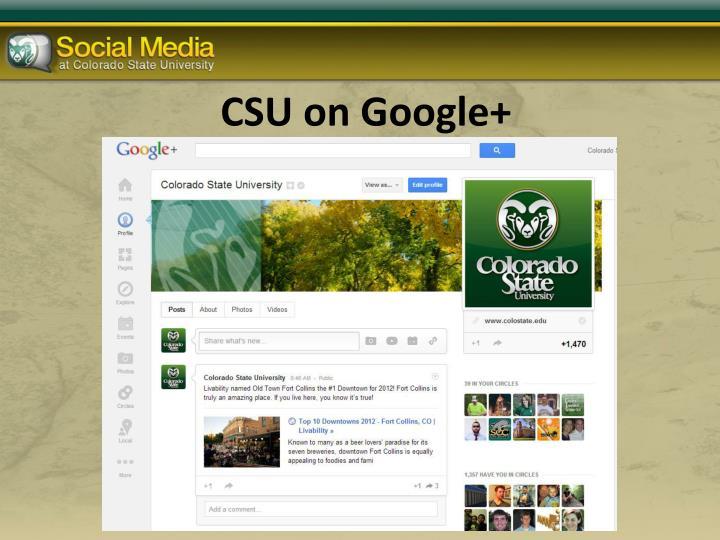 CSU on Google+