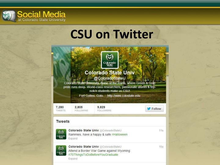 CSU on Twitter