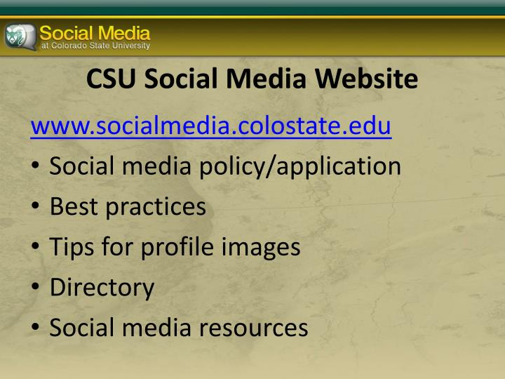 CSU Social Media Website