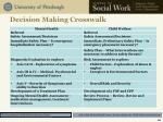 decision making crosswalk