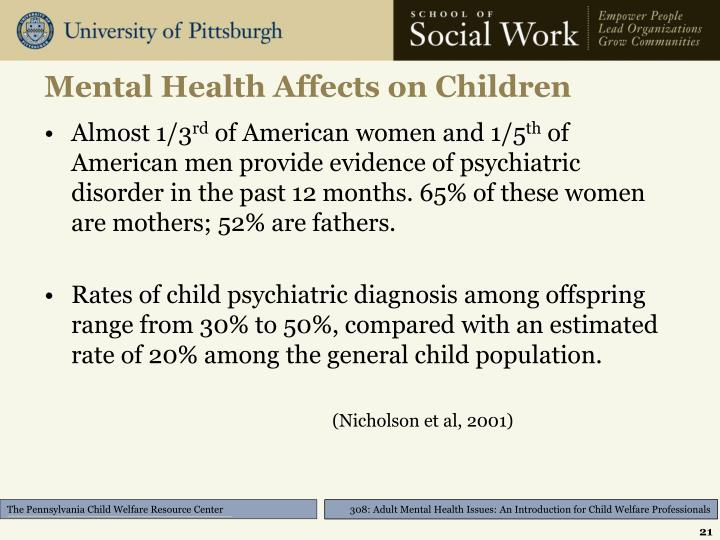 Mental Health Affects on Children