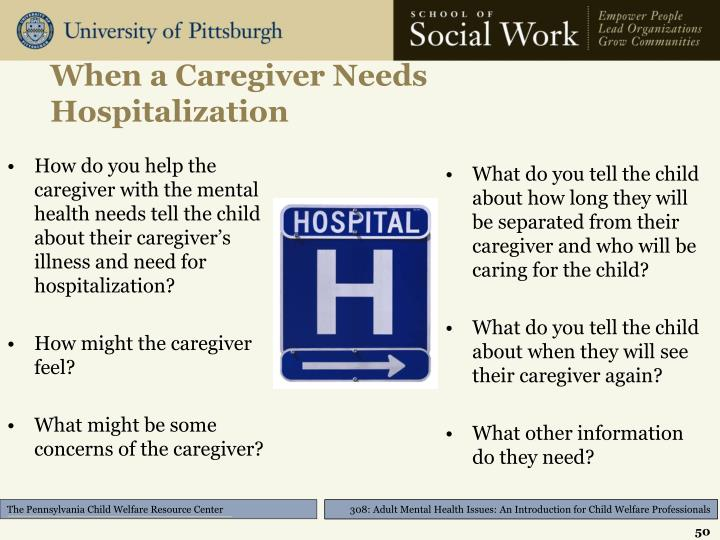 When a Caregiver Needs Hospitalization