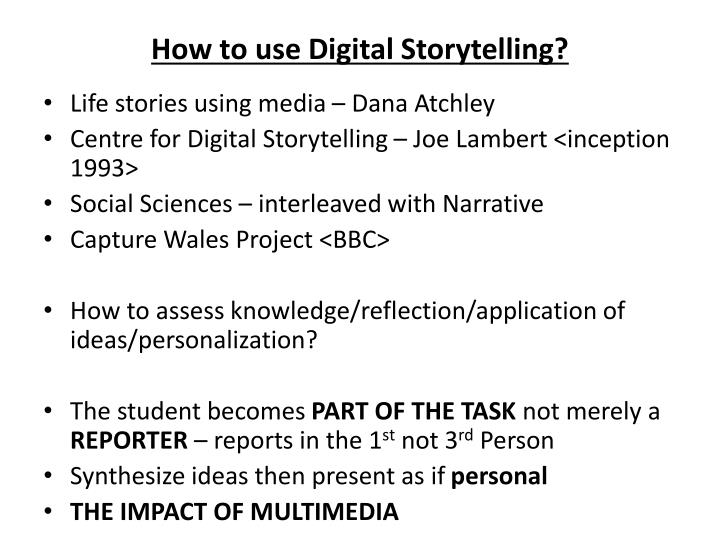 How to use digital storytelling