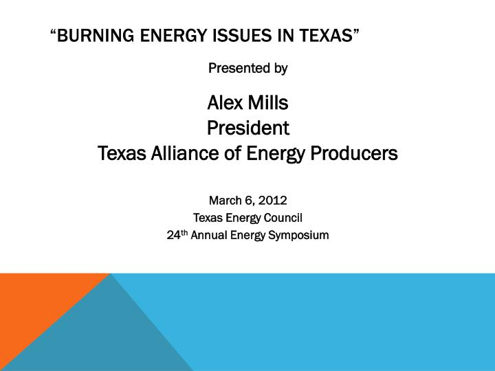 Burning energy issues in texas