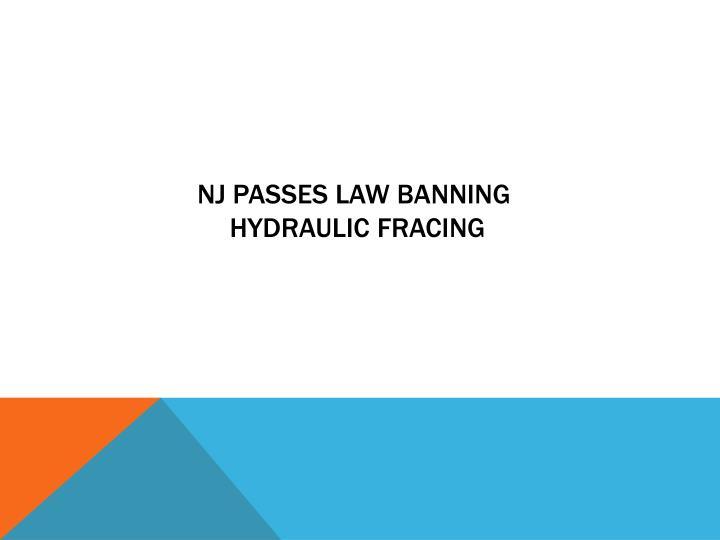 NJ passes law banning