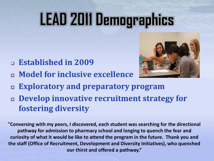 LEAD 2011 Demographics