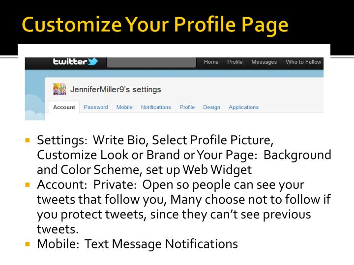 Customize Your Profile Page