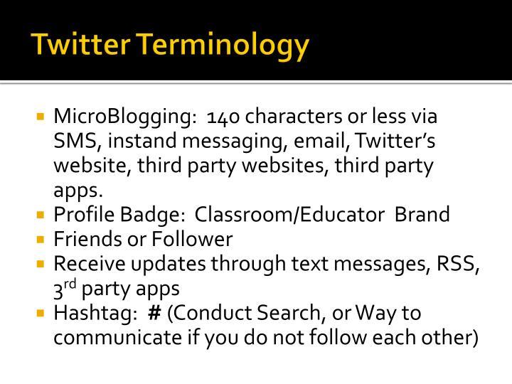 Twitter Terminology