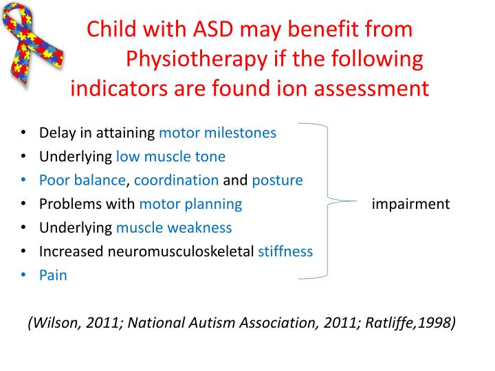 Child with ASD may benefit from