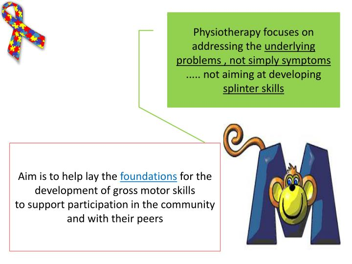 Physiotherapy focuses on addressing the