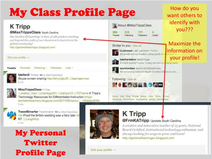 My Class Profile Page