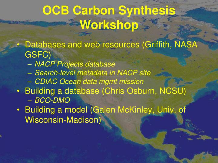 OCB Carbon Synthesis Workshop