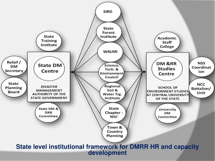 State level institutional framework for DMRR HR and capacity development