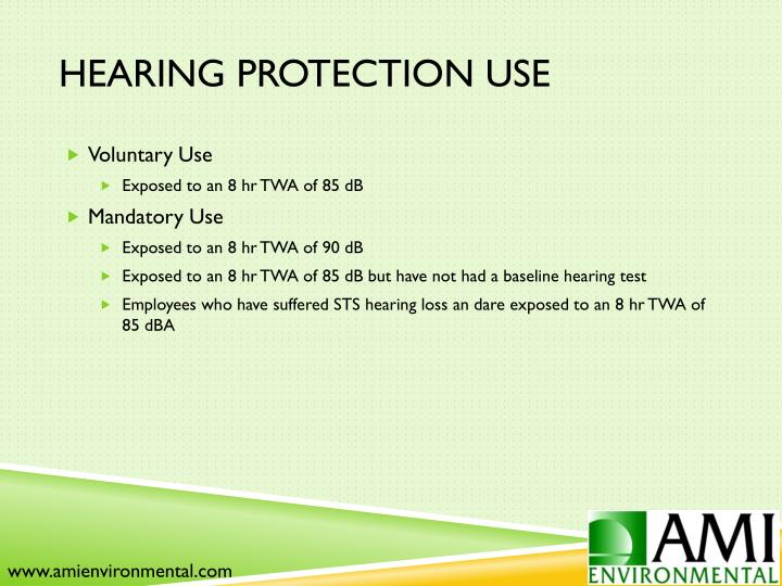 Hearing Protection Use