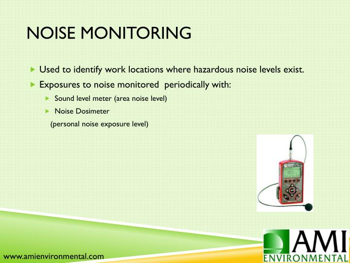 Noise Monitoring