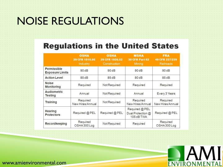 Noise Regulations