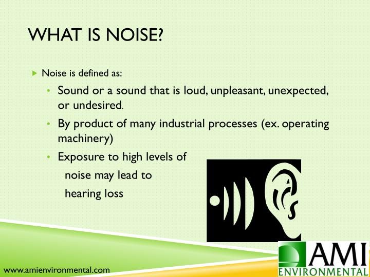 What is Noise?