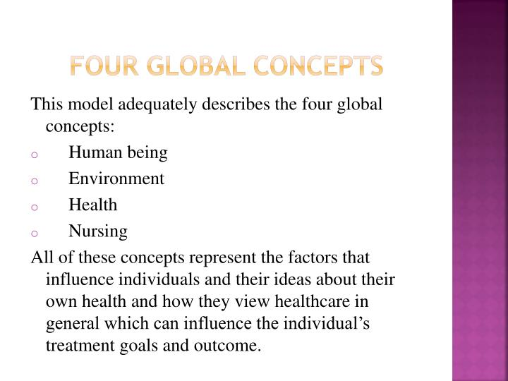 Four Global concepts