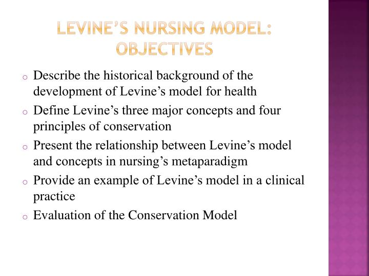 Levine's Nursing model: