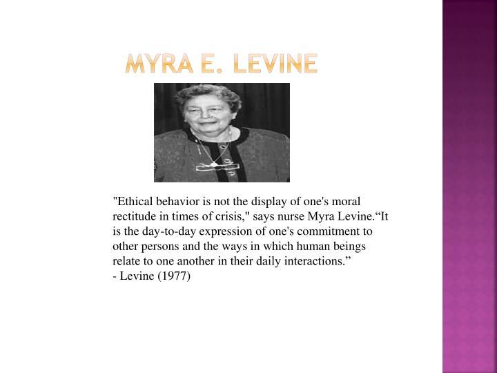 Myra E. Levine