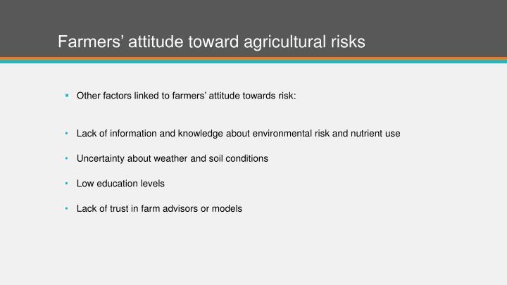 Farmers' attitude