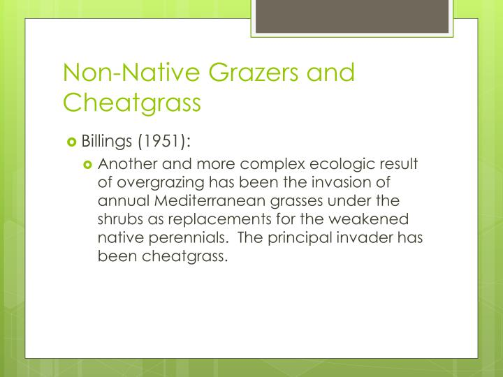 Non-Native Grazers and