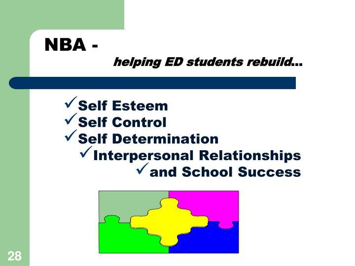 helping ED students rebuild