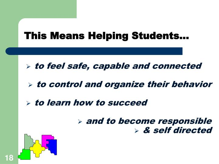 This Means Helping Students...